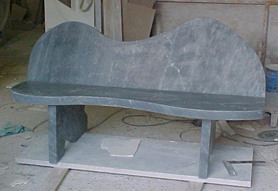Art.05bn panchina in marmo bardiglio grigio